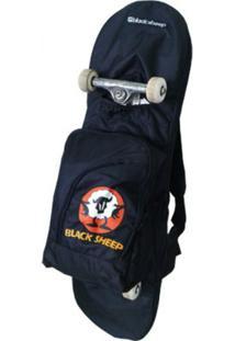Mochila Skate Bag Black Sheep Preta - Unissex