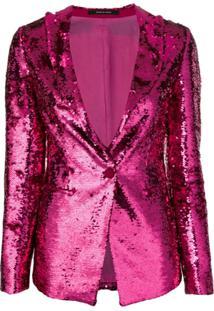 Tagliatore Blazer Gilda Com Paetês - Rosa