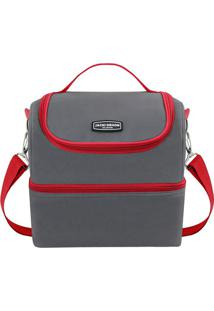 Bolsa Térmica Gg- Cinza Vermelha- 28X27X22,5Cmjacki Design