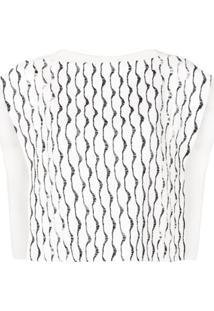 Chloé Blusa Com Bordado - Branco