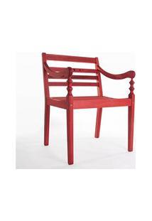 Cadeira Varanda 100% Em Madeira Vermelho - Mão & Formão