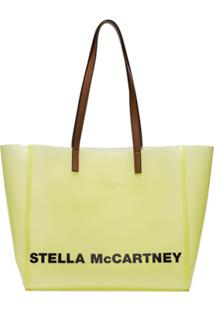 Stella Mccartney Bolsa Tote Com Estampa De Logo - Amarelo