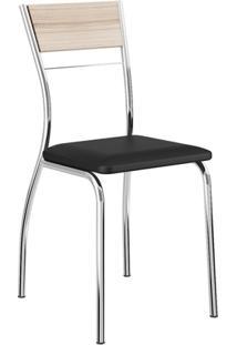 Cadeira 1721 2 Peças - Cromado Com Napa Preto