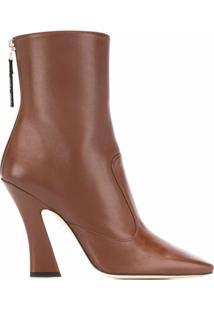 Fendi Ankle Boot Ffredom - Marrom