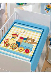Cobertor Jolitex Infantil Para Bebê - Azul