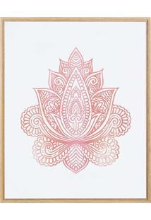 Quadro Decorativo Indian Vermelho Mart Collection