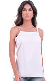 Blusa Bloom Alça Viscose - Feminino