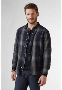 Camisa Pf Overshirt Xadrez Reserva Masculina - Masculino