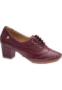 Scarpin Couro Doctor Shoes 790 Feminino - Feminino-Vermelho