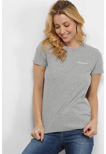 Blusa Calvin Klein Logo Feminina - Feminino-Mescla