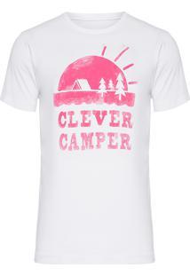 Camiseta Masculina Clever Camper - Branco