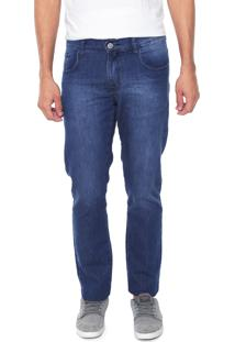 Calça Jeans Venom Slim Estonada Azul