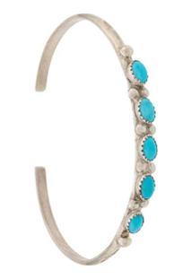 Jessie Western Bracelete Com Pedras Turquesa - Prateado