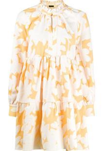 Stine Goya Vestido Com Estampa Floral Jasmine - Laranja