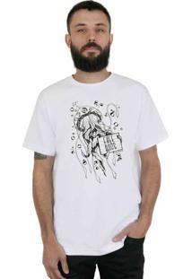 Camiseta Bleed American Free Hugs Branca