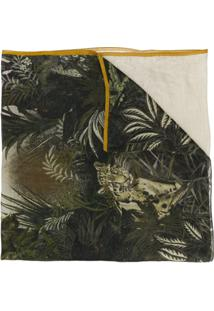 Etro Echarpe Tropical De Seda - Green