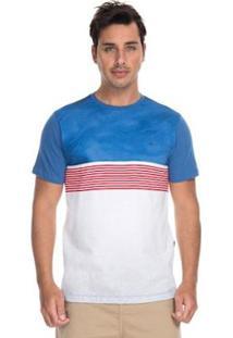 Camiseta Quiksilver Esp Digital Town Dark Denin Masculina - Masculino-Azul+Branco