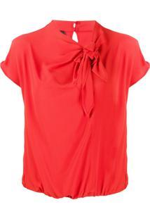 Pinko Blusa Com Detalhe De Nó - Vermelho