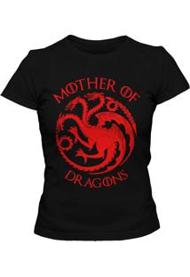 Camiseta Feminina Blitzart Mother Of Dragons 2 Preta
