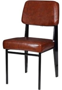 Cadeira Jean Provve Estofada Marrom 81Cm (Alt) - 47160 - Sun House