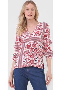 Blusa Maria Filã³ Lenã§O Marrocos Off-White - Off White - Feminino - Viscose - Dafiti