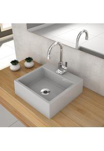 Cuba De Apoio Para Banheiro Compace Q355W Quadrada Cinza