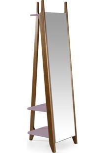 Espelho Stoka Laca Nogal/Lilás - Máxima