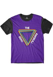 Camiseta Skill Head Orgulho Lgbt Over The Rainbow Sublimada Masculina - Masculino-Roxo