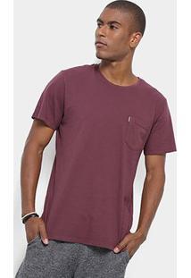 Camiseta Redley Fio 40 Lisa Masculina - Masculino-Roxo