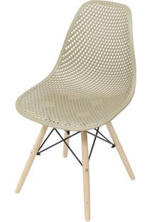 Cadeira Eames Com Furos E Base De Madeira Fendi