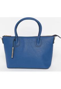 Bolsa Com Bag Charm- Azul Royal- 23X30X13Cmloucos E Santos