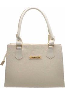 Bolsa Clássica D&R Shoes Feminina - Feminino-Off White