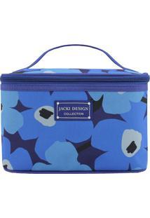 Nécessaire Floral- Azul & Azul Claro- 15X23X15Cmjacki Design