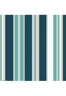Papel Parede Listras Azul Com Verde 2,50X 60 - Tricae