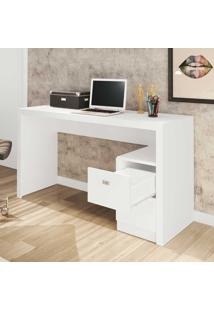 Mesa Para Escritório 2 Gavetas Me4130 Branco - Tecno Mobili