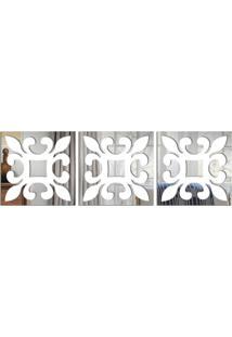 Espelho Love Decor Decorativo Geométrico Vazado Único