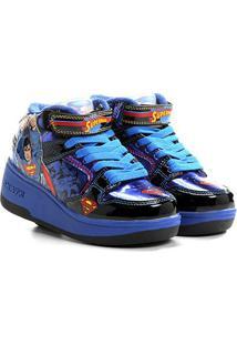 Tênis Elpis Skate Com Rodas Superman - Masculino-Azul+Vermelho