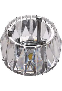 Spot Embutir Redondo Cristal 50W Gu10 Cromado Bella Iluminação Bivolt