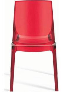Cadeira Femme Fatale Italiana Vermelha Ór Design