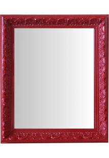 Espelho Moldura Rococó Raso 16392 Vermelho Art Shop