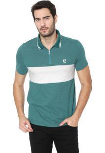 Camisa Polo Mr Kitsch Reta Recorte Verde