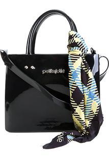 Bolsa Petite Jolie Shopper Stella Bag Feminina - Feminino-Preto+Amarelo