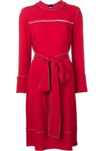 Marni Vestido Estilo Suéter Acinturado - Vermelho