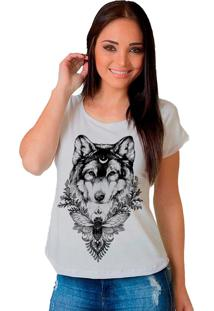 Camiseta Shop225 Urso Lobo Leader Branco