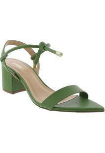 Sandália Gabriela Salto Bloco Com Amarração Verde