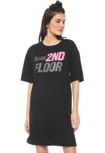 Vestido Ellus 2Nd Floor Curto Future Neon Preto