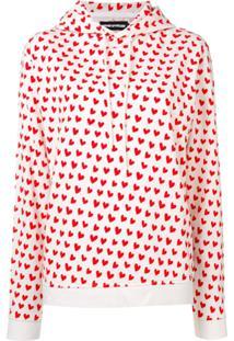 House Of Holland Blusa De Moletom Com Estampa De Coração - Vermelho