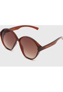 Óculos De Sol Morena Rosa Butterfly Marrom