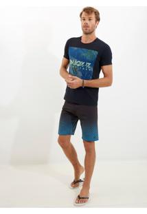 Camiseta John John Rg Enjoy It Malha Azul Marinho Masculina Tshirt Rg Enjoy It-Azul Marinho-G