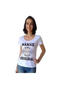 Camiseta Calupa Mamãe Original Tal Mãe Tal Filha Branco